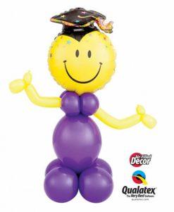 Bukiet 411 Smile Face Party Grad Qualatex #40379 82697-8 65230-1 43939-2