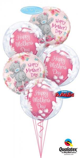 Bukiet 398 Deco Bubble Butterflies & Flowers Qualatex #11560-3 11688-2 11978-3