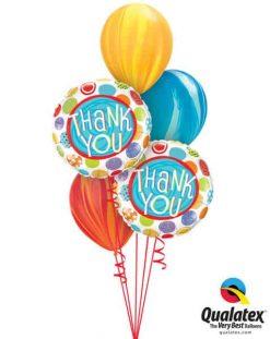 Bukiet 642 Thank You Dots & Swirls Qualatex #33354-2 91544-3