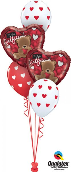 Bukiet 406 To My Girlfriend Bear Qualatex #41324-2 18080-3