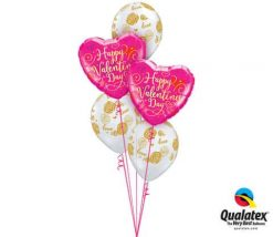 Bukiet 673 Valentine's Gold Script and Love Roses bouquet #54838-2 55248-3