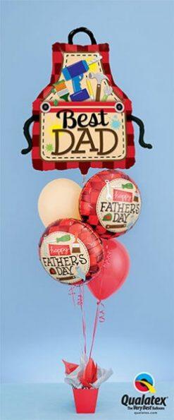 Bukiet 387 Best Dad Apron Qualatex #23955 24206-2 17747-2