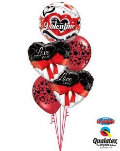 Bukiet 118 To My Valentine Banner Hearts Qualatex #33907, 21647_2, 40863_2