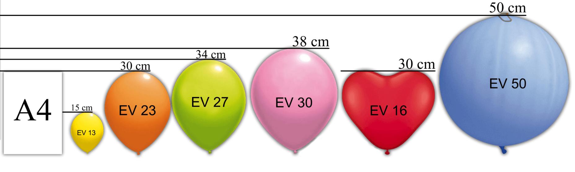 Rozmiar Balony