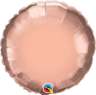 "18"" / 46cm Solid Colour Round Rose Gold Qualatex #57050"