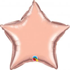 "20"" / 51cm Solid Colour Star Rose Gold Qualatex #57165"