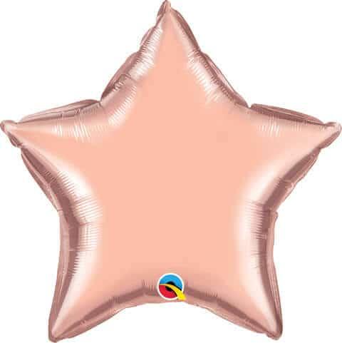 "20"" / 51cm Solid Colour Star Rose Gold Qualatex #57165"