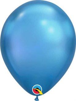 """11"""" / 28cm Chrome® Blue Qualatex #58272-1"""