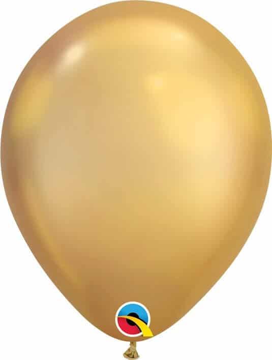 11 28cm Chrome Gold Qualatex #58271-1