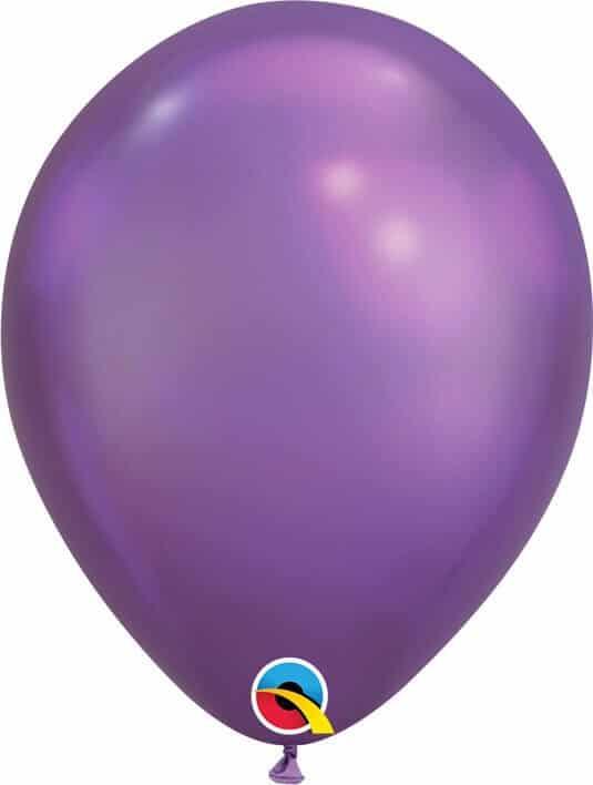 11 28cm Chrome Purple Qualatex #58274-1