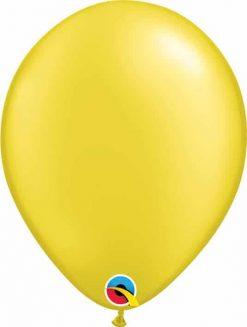 11 28cm Pearl Citrine Yellow Qualatex #43771