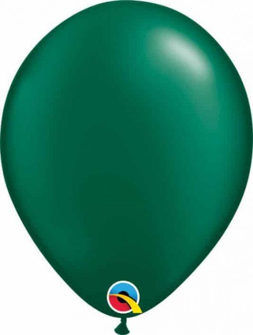 11 28cm Pearl Forest Green Qualatex #43773-1