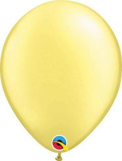 11 28cm Pearl Lemon Chiffon Qualatex #43776-1