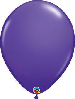 "11"" / 28cm 6szt Round Purple Violet Qualatex #47356"