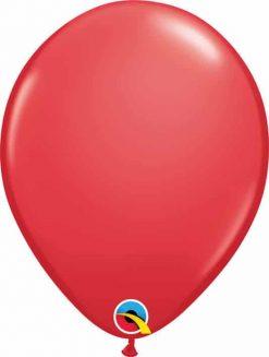"11"" / 28cm 6szt Round Red Qualatex #47353"