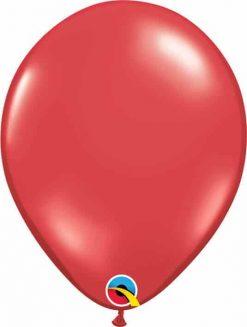 "11"" / 28cm Transparent Ruby Red Qualatex #43792-1"