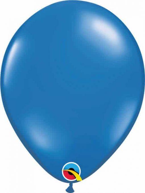 11 28cm Tranparent Sapphire Blue Qualatex #43793-1