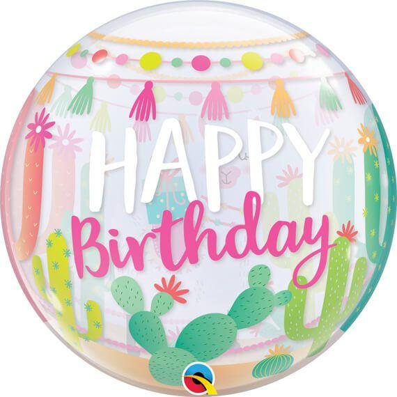 22 56cm Llama Birthday Party Qualatex #87742