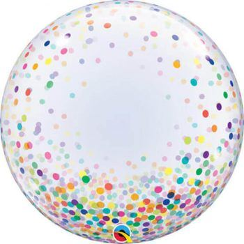 24″ 61cm Deco Bubble Colourful Confetti Dots Qualatex #57791