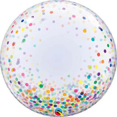 24″ 61cm Deco Bubble Colourful Confetti Dots Qualatex #57791