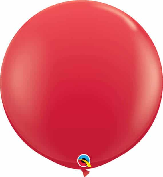 3' 91cm Standard Red Qualatex #42554-1