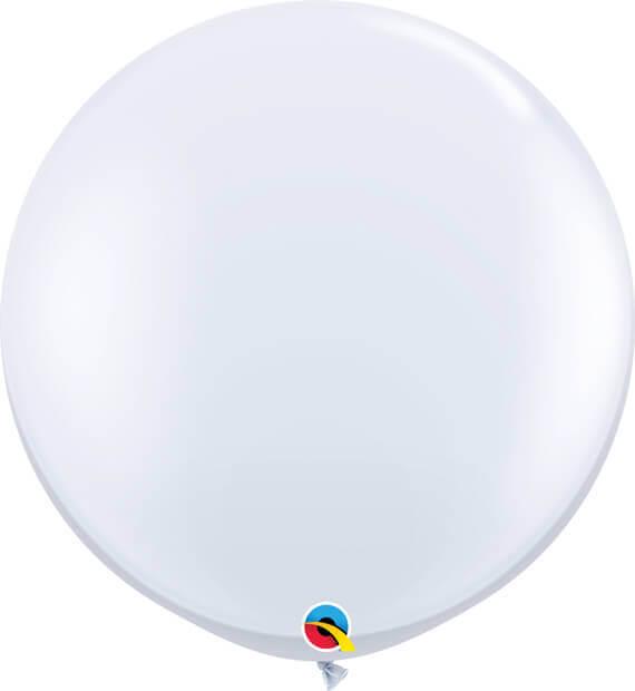 3' 91cm Standard White Qualatex #42847-1