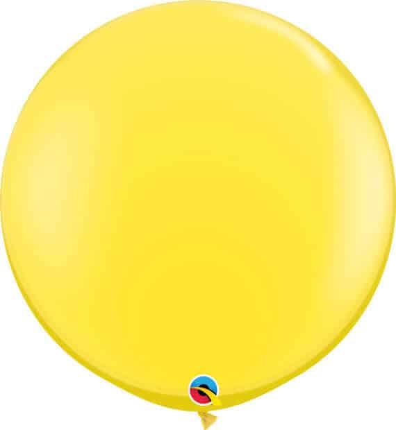 3' 91cm Standard Yellow Qualatex #42690-1