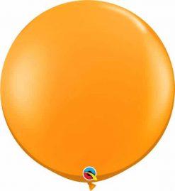3' 91cm Transparent Mandarin Orange Qualatex #43263-1