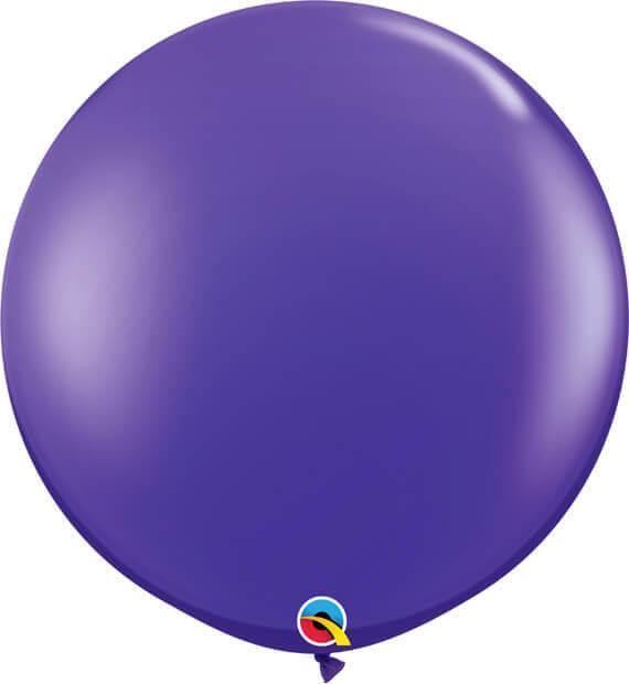 3' 91cm Transparent Quartz Purple Qualatex #42875-1