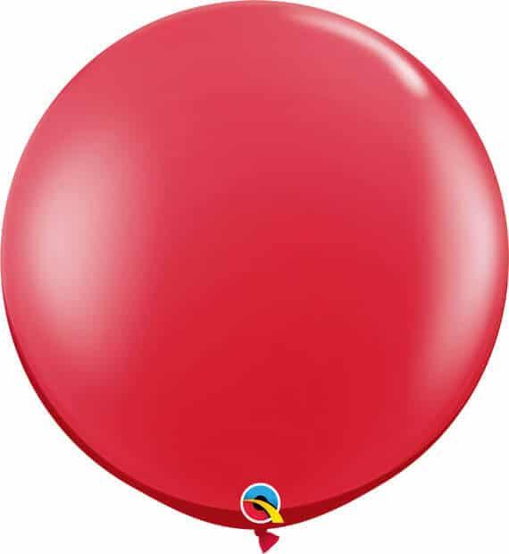 3' 91cm Transparent Ruby Red Qualatex #43057-1