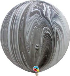 "30"" / 76cm Super Agate Black & White Qualatex #35206-1"