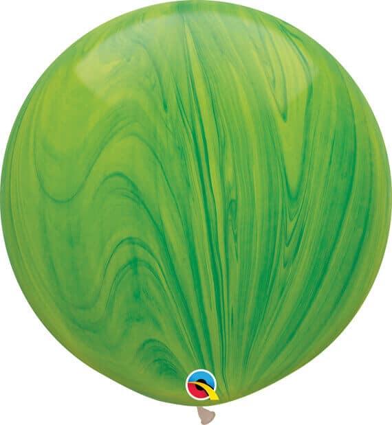 30 76cm SuperAgate Green Rainbow Qualatex #63757-1