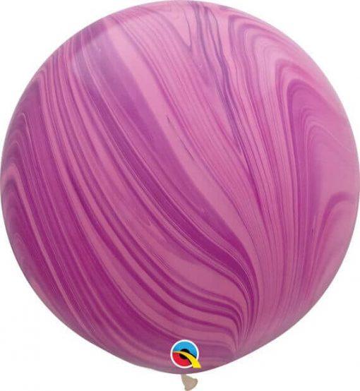 "30"" / 76cm Super Agate Pink Violet Rainbow Qualatex #63758-1"