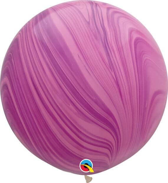 30 76cm SuperAgate Pink Violet Rainbow Qualatex #63758-1