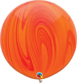 """30"""" / 76cm Super Agate Red Orange Rainbow Qualatex #63759-1"""