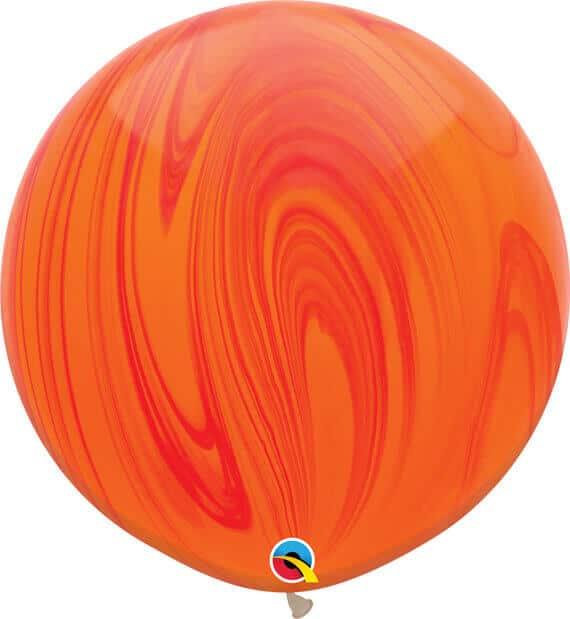 30 76cm SuperAgate Red Orange Rainbow Qualatex #63759-1