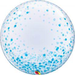 24″ / 61cm Deco Bubble Blue Confetti Dots Qualatex #57789