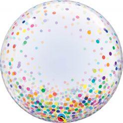 24″ / 61cm Deco Bubble Colourful Confetti Dots Qualatex #57791