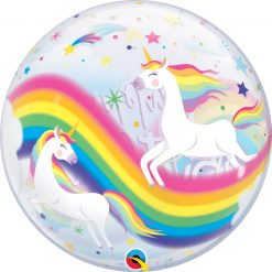"22"" / 56cm Birthday Rainbow Unicorns Qualatex #87744"