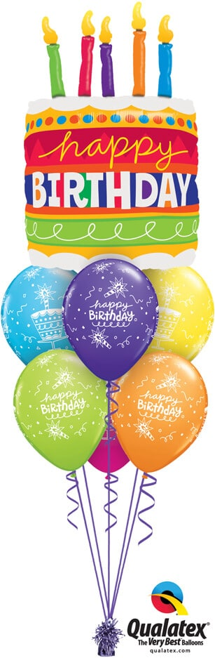 Bukiet 735 Giant Birthday Cake Qualatex #17269 43059-6
