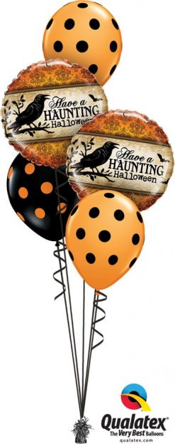 Bukiet 728 Haunting Halloween Bird Qualatex #18412-2 38470-3