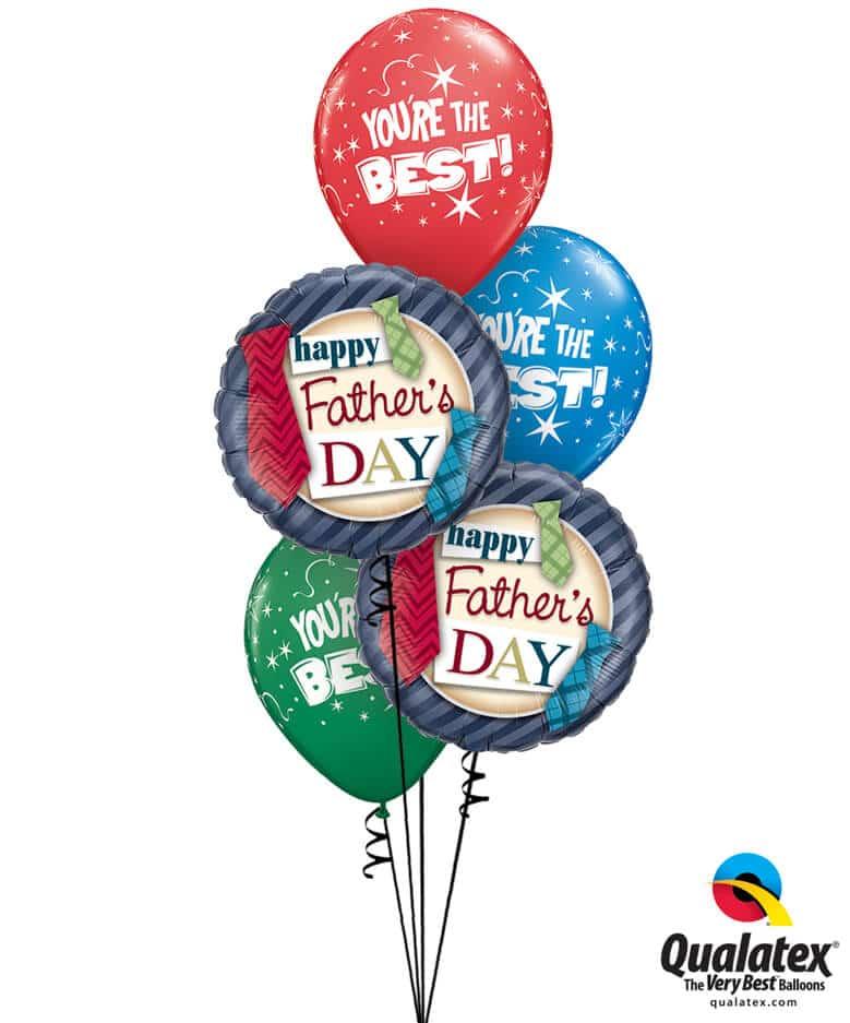 Bukiet 726 Father's Day Ties Qualatex #24310-2 28235-3