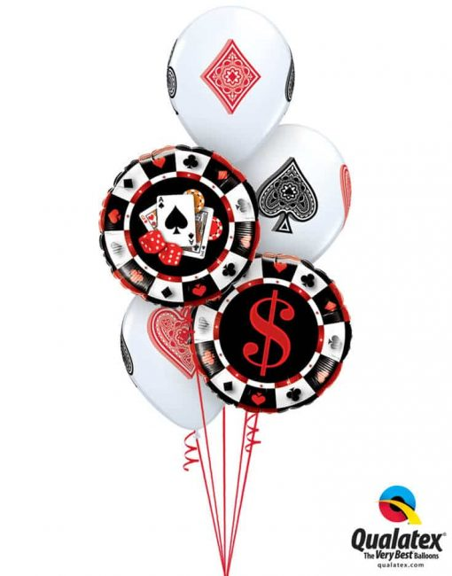 Bukiet 727 Play Your Cards Right Qualatex #43389-2 45527-3