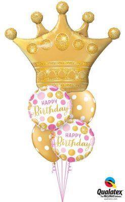 Bukiet 737 Queen of Birthdays Qualatex #49343 49164-2 52958-2