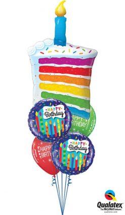 Bukiet 755 Rainbow Birthday Candles Qualatex #49379 49037-2 52963-2