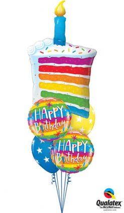 Bukiet 754 Rainbow Birthday Candles Qualatex #49379 49043-2 18077-2