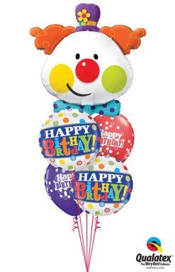 Bukiet 739 Colorful Clown Birthday Qualatex #49403 49047-2 52975-2