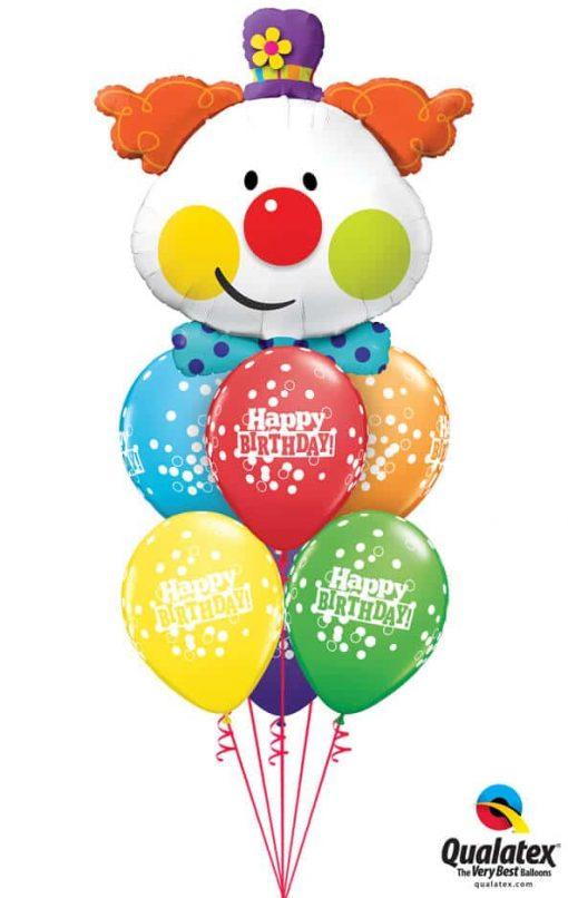Bukiet 738 Cute Clown Happy Birthday Qualatex # 49403 52975