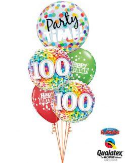 Bukiet 753 Happy 100th Birthday! Qualatex #23636 49565-2 52975-2
