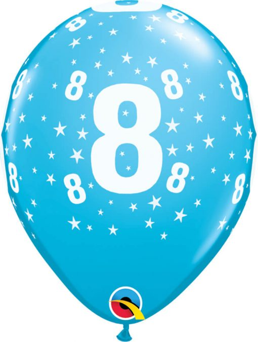 "11"" / 28cm Star #8 A Round Tropical Asst. Qualatex #50844-1"